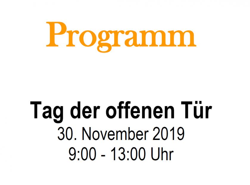 Tag der offenen Tür an der Hohen Landesschule am 30. November 2019
