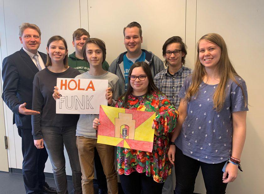 """Podcast """"Holafunk"""" auf Homepage der Hohen Landesschule"""